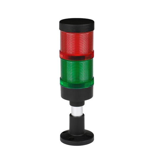 Kolumna sygnalizacyjna LED FL70 - moduły: zielony, czerwony - 230V/24V/12V