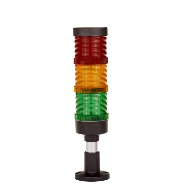 Sygnalizator FL70, 3 moduły, IP65, światło 4w1 12V/24V/230V