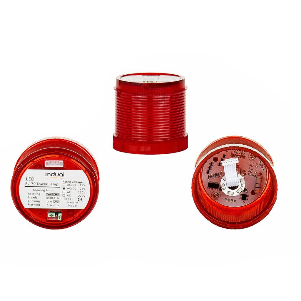 Klosz czerwony FL70 12V/24V/230V