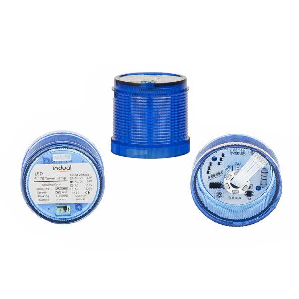 Klosz niebieski FL70 12V/24V/230V
