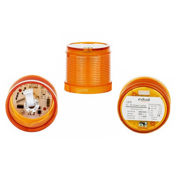 Klosz pomarańczowy FL70 12V/24V/230V