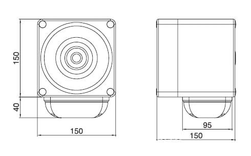 Sygnalizator optyczno-akustyczny 120dB, seria S150