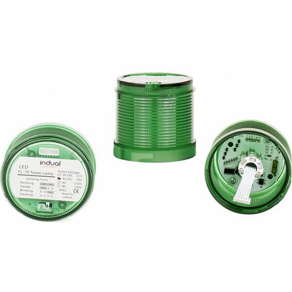Klosz zielony FL70 12V/24V/230V